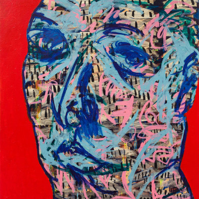 Don-Lewis,-'Face',-2015,-acrylic-on-canvas,-70.5'x69.25'