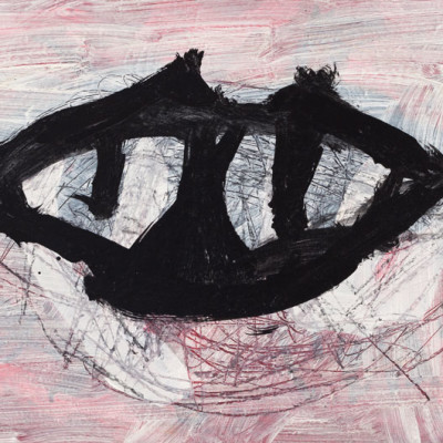 Don-Lewis,-'Fangs',-2010,-acrylic-on-wood,-32'x72'