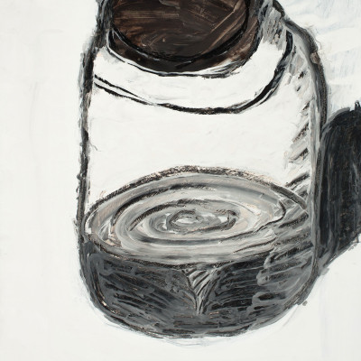 Don-Lewis,-'Jar',-1991,-acrylic,-charcoal-on-paper,-24'x18'