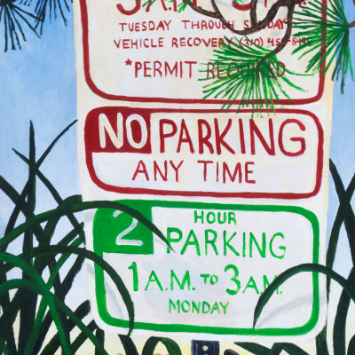 Santa-Monica-Semiotics-(parking-sign)-48x24acrylic-on-panel