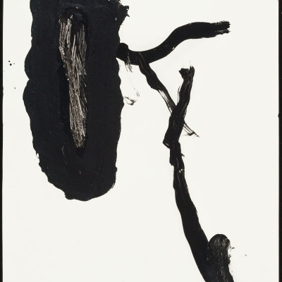Don-Lewis,-'Branch',-1983,-acrylic-on-paper,-24'x18'