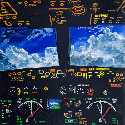 Getting-There-(airplane-cockpit)-32x24acrylic-on-panel